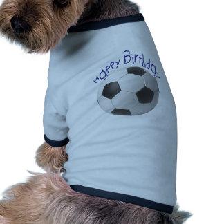 Cadeaux du football de joyeux anniversaire manteau pour animal domestique