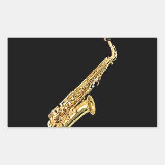 """Cadeaux et produits de conception de """"saxophone"""" sticker rectangulaire"""