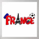 Cadeaux français de passionés du football de cultu posters