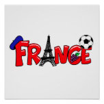 Cadeaux français de passionés du football de cultu poster