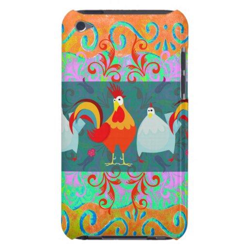 Cadeaux géniaux d'animal de ferme de poulet de pou coque Case-Mate iPod touch
