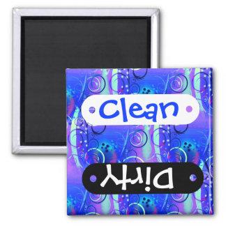 Cadeaux Girly pourpres bleus de remous floral abst Magnets Pour Réfrigérateur