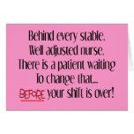 """Cadeaux hilares d'infirmière """"derrière chaque infi carte de vœux"""