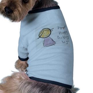 cadeaux littlelady de célébration d'anniversaire tee-shirt pour chien