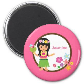 Cadeaux orientés de Luau de fille de danse Aimants Pour Réfrigérateur
