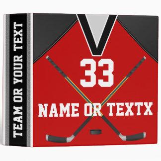 Cadeaux personnalisés d'équipe de hockey, classeur