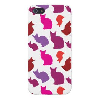 Cadeaux pourpres roses de motif de silhouettes de  iPhone 5 case