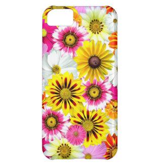 Cadeaux roses assez jaunes de marguerites de fleur coque iPhone 5C