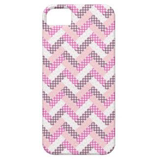 Cadeaux roses de motif d'édredon de zigzag pour iPhone 5 case
