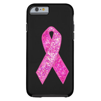 Cadeaux roses d'étincelle de ruban coque iPhone 6 tough