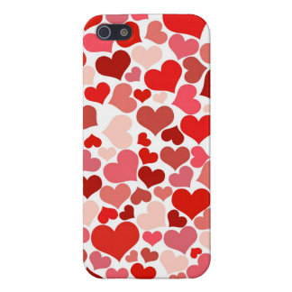 Cadeaux rouge-rose d'amour de Saint-Valentin de mo Coques iPhone 5