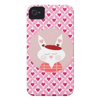 Cadeaux rouge-rose de coeurs de lapin mignon de étuis iPhone 4