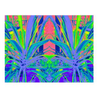 Cadeaux tropicaux d'art moderne d'agave carte postale