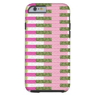 Cadeaux verts assez roses de conception d'édredon coque iPhone 6 tough