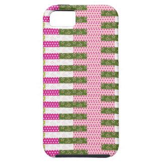 Cadeaux verts assez roses de conception d'édredon coque tough iPhone 5