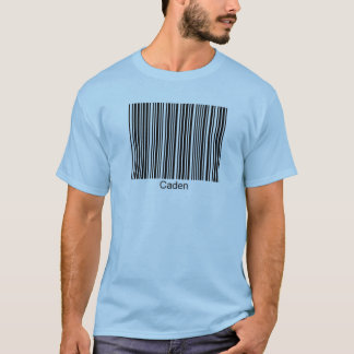 Caden Personalized Functional Barcode Tee
