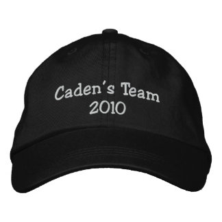 Caden's Team 2010 embroidered cap Embroidered Hat