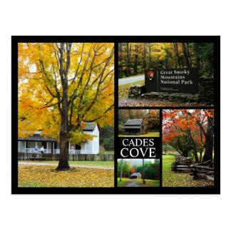 Cades Cove - Autumn Colors Photo Collage Postcard