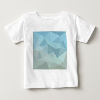 Cadet Blue Orange Abstract Low Polygon Background Baby T-Shirt