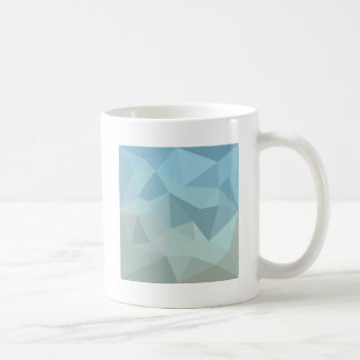 Cadet Blue Orange Abstract Low Polygon Background Coffee Mug