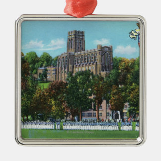 Cadets Marching to Parade Grounds Scene Metal Ornament