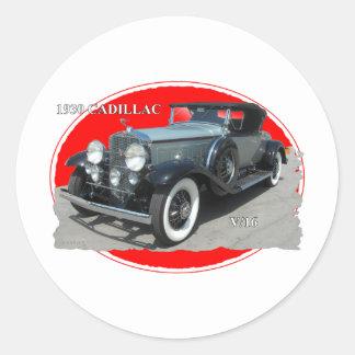 CADILLAC 1930 V/16 ROUND STICKER