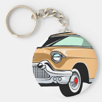 Cadillac 1 basic round button keychain