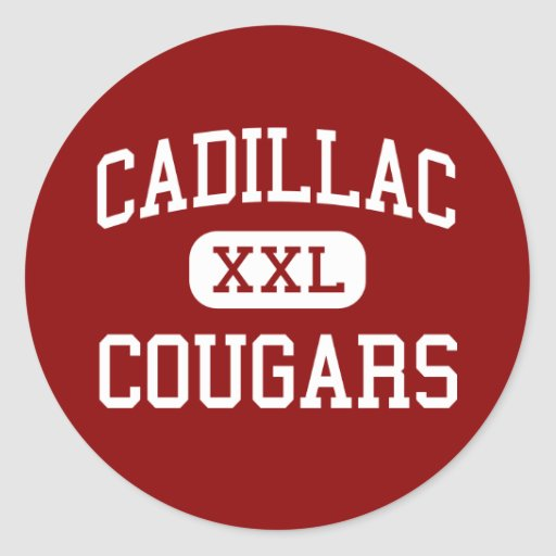 Cadillac - Cougars - Middle - Detroit Michigan Stickers