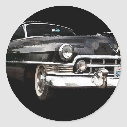 Cadillac coupe 1950 round sticker