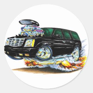 Cadillac Escalade Black Truck Round Sticker