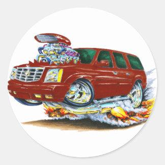 Cadillac Escalade Maroon Truck Round Sticker