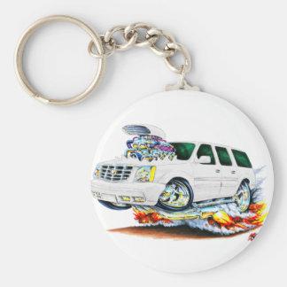 Cadillac Escalade White Truck Keychain