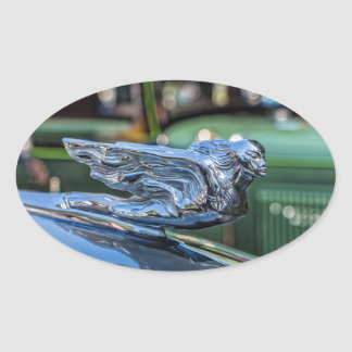 Cadillac Hood Ornament Oval Stickers