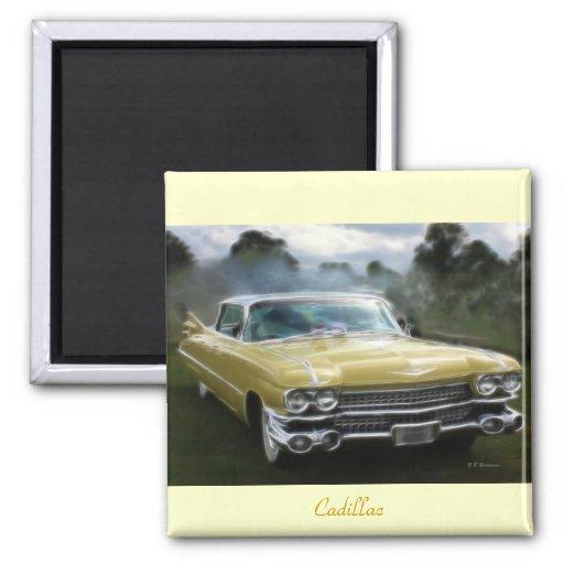 Cadillac jaune magnets pour réfrigérateur