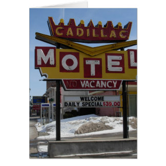 Cadillac Motel Card