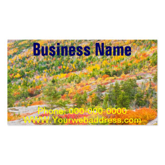 Cadillac Mountain in Fall, Acadia National Park Business Card Template