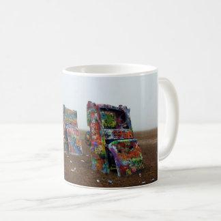 cadillac ranch design mug