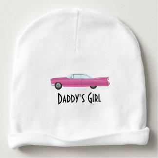 Cadillac rose vintage personnalisable bonnet pour bébé