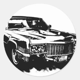 cadillac series deville eldorado sts classic rare round sticker