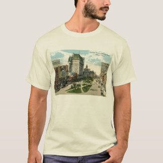 Cadillac Square, Detroit Michigan, 1915 Vintage T-Shirt