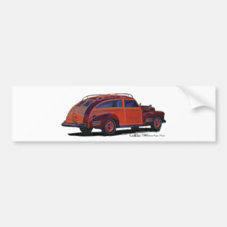 Cadillac station Wagon Bumper Sticker
