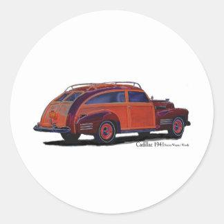 Cadillac station Wagon Round Sticker