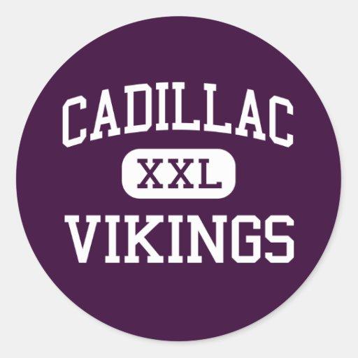 Cadillac - Vikings - High - Cadillac Michigan Stickers