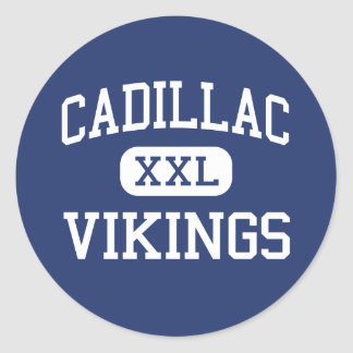 Cadillac Vikings Middle Cadillac Michigan Round Sticker