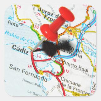 Cadiz, Spain Square Sticker