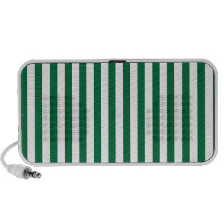 Cadmium Green Stripes; Striped Travelling Speakers
