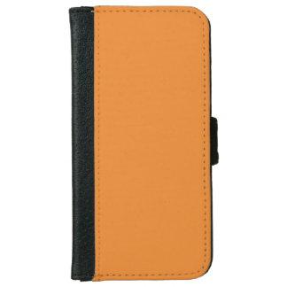 Cadmium Orange Classic Monochrome iPhone 6 Wallet Case