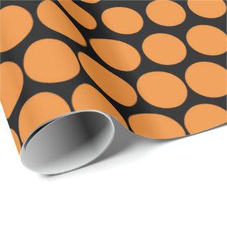 Cadmium Orange Polka Dot Modern Black