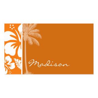 Cadmium Orange Tropical Hibiscus; Palm Pack Of Standard Business Cards