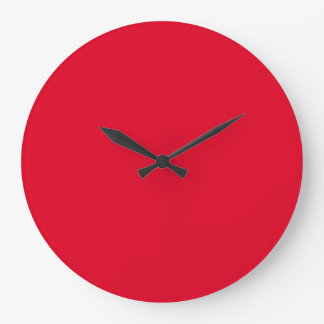 Cadmium Red Fashionable Colorful Large Clock